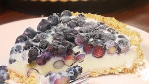 Borůvkový koláč bez pečení