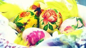 Jednoduchá zdobená vejce