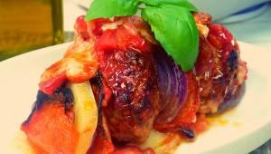 Zapékané mleté maso se zeleninou