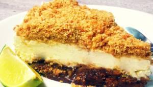 Nepečený limetkový cheesecake